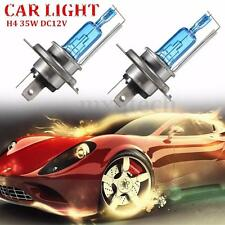 2x H4 35W Hi/lo Super White Headlight Xenon Halogen Light Lamp Bulb 12V 6000K