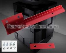 Universal RED Front Bumper License Plate Relocator Bracket Holder Bar JDM