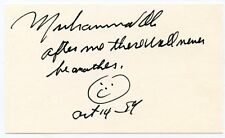 MUHAMMAD ALI  Signed Index Card 1984 Autograph Quote + KOA Authenticated