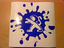 peugeot paint mud splat bomb pug 106 206 306 307 sport car sticker vinyl  decal