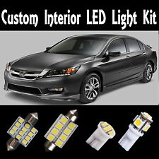 14 x Luxury Xenon White LED Lights Interior Package Kit for Honda Accord 03-12