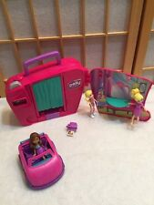 Polly Pocket Doll FASHION CHANGE PHOTO BOOTH Lot Of 3 Dolls Car