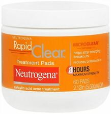 Neutrogena Rapid Clear Treatment Pads 60 Each (Pack of 2)
