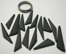 LOT OF 14 X LOOSE BASALT NATURAL GEMSTONE CABOCHON ASSORTED 26-39MM GEM MI39