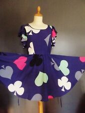 TOPSHOP COLLECTION PETITE  ROBE COLLECTOR ALICE IN WONDERLAND UK 8 OU 32/34