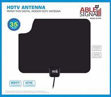 NEW INDOOR PAPER THIN FLAT HDTV TV ANTENNA 35 MILES  VHF UHF
