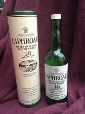 Laphroaig Scotch Whisky Collectable Box And Empty Bottle