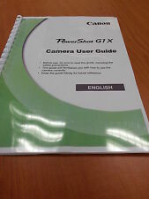 CANON POWERSHOT G1X FULL USER MANUAL GUIDE INSTRUCTIONS  PRINTED 245 PAGES A5