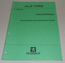 Werkstatthandbuch Peugeot Funktionsprinzip Zusatzheizung Stand 12/1999
