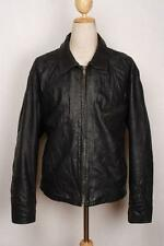 Vtg SCHOTT Black Highwayman Leather Motorcycle Sports Jacket Size 48
