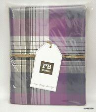 Nip Pottery Barn PRESCOTT PLAID Duvet/Comforter Cover TWIN/TWIN XL ~Navy/Purple