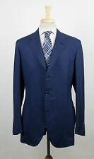 New. BRIONI Piuma Duke Blue Silk 3/2 Button Sport Coat Blazer Size 56/46 L $3995