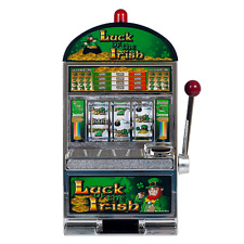 Token Slot Machine Bank Replica Coins Casino Game Jackpot Bell Sound Room Gift