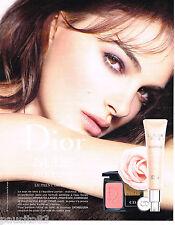 PUBLICITE ADVERTISING 065  2013  DIOR   maquillage NUDE avec NATALIE PORTMAN