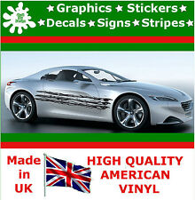 "10"" High Car Side Stripes Graphic Decal Vinyl Sticker Van Auto Rally Race F2_94"