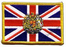 Great Britain with coat of arms Flag EMBROIDERED PATCH 8x6cm Badge