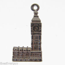 STERLING SILVER BIG BEN CHARM.  LARGE SIZE.  ***RETIREMENT CLEARANCE SALE***