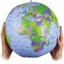 INFLATABLE BLOW UP GLOBE 30CM  ATLAS WORLD MAP EARTH