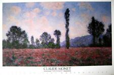 "CLAUDE MONET LITHOGRAPHIE / KUNSTDRUCK ""FIELDS OF POPPIES / MOHNBLUMEN"""