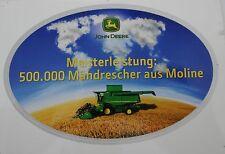 Aufkleber JOHN DEERE 500.000 Mähdrescher aus Moline Sticker