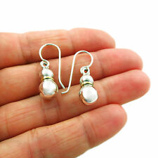 Ball Bead 925 Sterling Silver and Bronze Drop Earrings