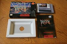 Raiden Trad  (Super Nintendo, SNES 1992) Complete (Game, Box, Manual)