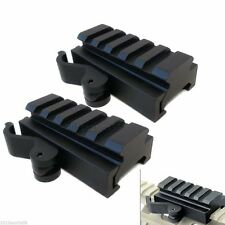 "2x Tactical Quick Release Half Inch .5"" Riser Block Scope Mount Picatinny Rail 丽"
