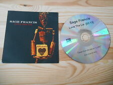 CD pop dis Francis-Love the Lie (1 chanson) promo anti-rec