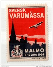 Sweden 1934 Varumassa Malmo Air Flight Cinderella Mint MY222
