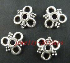 200pcs Tibetan Silver 3Circles End Bead Caps 10x3mm 8938