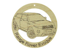 Range Rover Evoque Natural Maple Hardwood Ornament Sanded Finish Laser Engraved