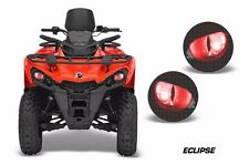 AMR Racing Head Light Eyes Can-Am Outlander-L ATV Headlight Graphics ECLIPSE RED