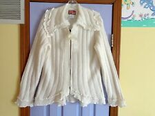 WOMEN'S APRIL CORNELL ROMANTIC IVORY BOW SWEATER - MEDIUM - NEVER WORN