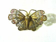 Vintage Edwardian-Victorian 900/925 Butterfly Trumpet Closure Brooch/Pin