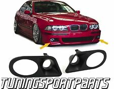 PLASTIC COVER FOG LIGHTS FOR BMW E39 95-03 M5 SERIES 3 NEW COPERTURA FENDINEBBIA