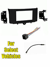Double Din Car Radio Install Dash Kit Combo for 2011 2012 2013 Smart Fortwo