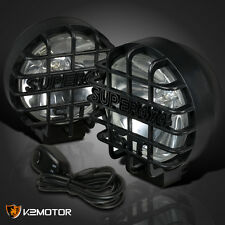"6"" Black Round Clear Work Fog Light Super 4X4+Wiring Kit SUV ATV Rv Jeep Truck"