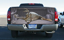 Giant White Tail Buck Open Truck Tailgate Wrap Vinyl Graphic Decal Sticker Wrap