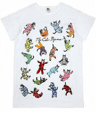 "Hatley ""Cats pajamas"" white cotton sleepshirt night shirt cotton animal kitty"