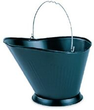 2 ea PANACEA 15341 BLACK METAL FIREPLACE COAL HOD / ASH CONTAINER BUCKETS