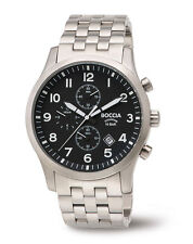 B3755-02 NEW Boccia Gents Chronograph Titanium Bracelet Watch
