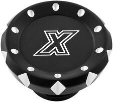 Xtreme Machine Gas Cap with LED Fuel Gauge VCut - Black 0210-2028-BM 67-8202