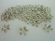 60 pce Antique Silver Metal Leaf Style Bead Caps 15mm