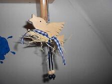 """1 St. Holzdekohänger Fensterhänger """" Vogel blau """"  Neu / OVP  AC"""