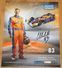 "2015 Charlie Kimball signed Novo Nordisk ""2nd issued"" Chevy Indy Car postcard"