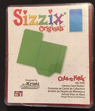 Sizzix Die Library Book  Pocket Envelope DieCut With Case Box Retired Scrapbook