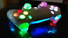 Sony PS4 custom wireless controller-LED MOD-Whiteout+Multi Color Slow Lights