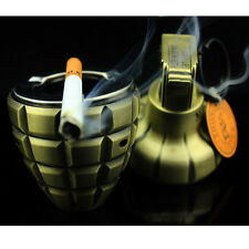 DUMMY Smoke Grenade shape Windproof lighter Keychain with ashtray Cigarette