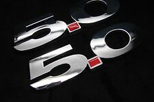 FORD MUSTANG GT 5.0 ABS CHROME FINISH Emblem Set (2)  F150 5.0L Decal  STICKER