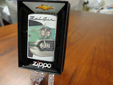CHEVROLET CHEVY BEL AIR GREEN ZIPPO LIGHTER MINT IN BOX